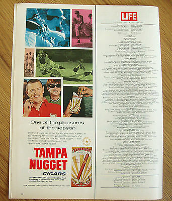 1970 Tampa Nugget Cigars Ad  One of the Pleasures of the Season