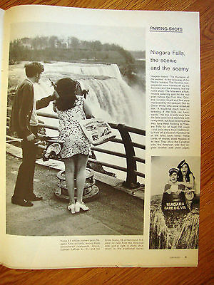 1970 Photo Article Ad  Niagara Falls The Scenic & the Seamy