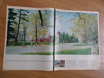 1971 Photo Article Ad Spring in Stockbridge by Norman Rockwell