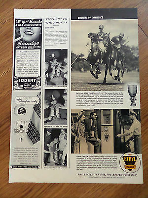 1941 Ethyl Gasoline Ad Polo National Open Cup