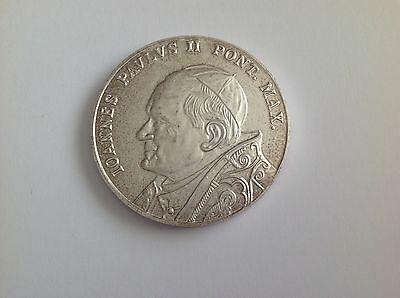 1978 papal commemorative coin giovanni paolo II 50mm