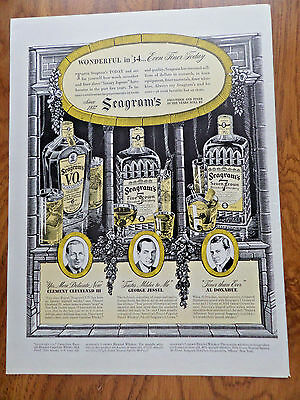 1940 Seagram's Whiskey Ad Cleveland Jessel & Donahue