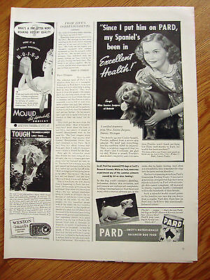 1940 Pard Dog Food Ad  Cocker Spaniel Dog Jeanne Jacques Detroit Michigan
