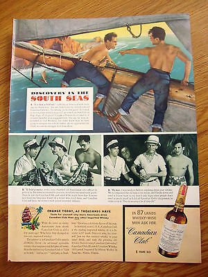 1940 Canadian Club Whiskey Ad South Seas 1940 Camel Cigarette Ad Swimmer Fick