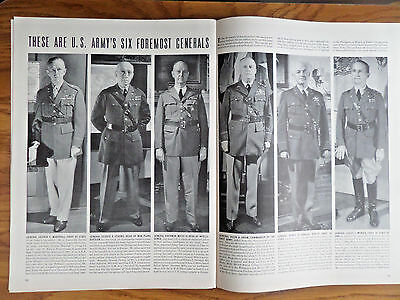 1940 Article Photo Ad U. S Army's Six Foremost Generals