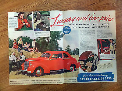 1938 Studebaker Ad New Miracle Ride & Shift Commander & President