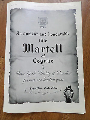1937 Martell of Cognac Brandy Ad  Borne by the Nobility of Brandies