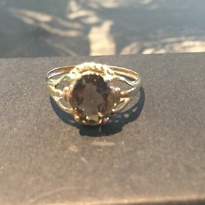 Smokey Topaz 9ct Gold Ring