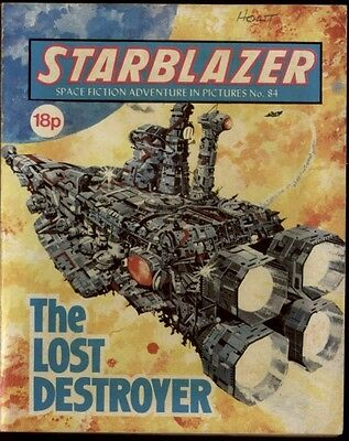 The Lost Destroyer,starblazer Space Fiction Adventure In Pictures,no.84,1982