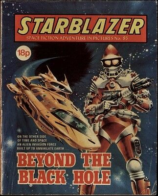 Beyond The Black Hole,starblazer Space Fiction Adventure In Pictures,no.85,1982