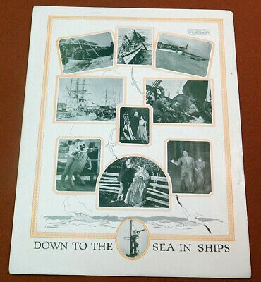 CLARA BOW Vintage '23 Silent Movie Film Studio TRADE AD Down To The Sea In Ships