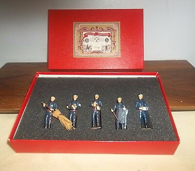 Nice Boxed Set Of 5 Mignot Pompiers ~ Firemen