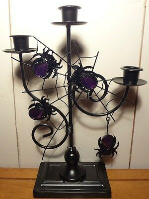 GOTHIC DECOR Spider Web Taper Candle Holder