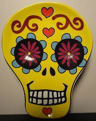 Day of the Dead Sugar Skull Dish/Spoonrest (yellow)