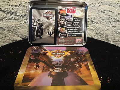 2002 Collectible Harley Davidson Playing Cards with tin