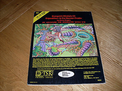 Expedition To The Barrier Peaks - Dungeon Module S3 - AD&D - TSR