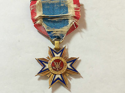 USA-MILITARY ORDER OF THE LOYAL LEGION-GOLD & ENAMELS-medal