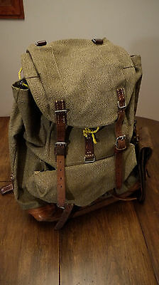 Vintage Swiss Army Canvas Rucksack Backpack Excel Cond Free Shipping