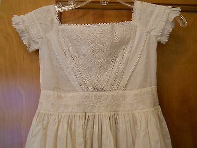 Reproduction Victorian Christening gown short sleeves