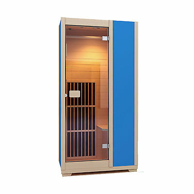 Infrared Sauna Zen Brighton 1 Person Sauna Cabin Carbon Heater  - Blue