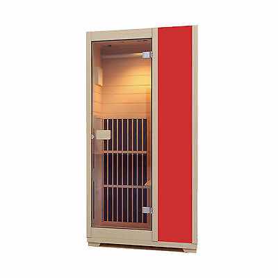 Infrared Sauna Zen Brighton 1 Person Sauna Cabin Carbon Heater  - Red