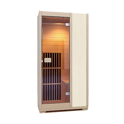 Infrared Sauna Zen Brighton 1 Person Sauna Cabin Carbon Heater  - White