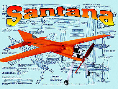 """Model Airplane Plans 1/2A proto 20"""" Span Speed plane F/S Printed plans & Article"""