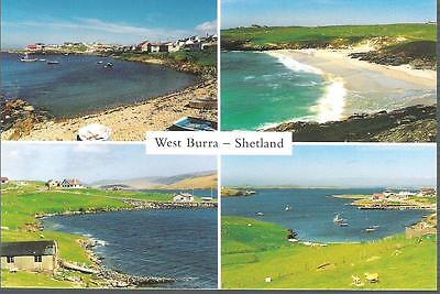 West Burra, Shetland - multiview postcard inc Hamnavoe - postcard