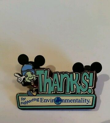 Disney  Cast Exclusive Jiminy Cricket Thanks for supporting environmentally pin
