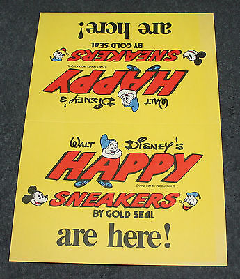Nice Vintage Walt Disney's Happy Sneakers Fold Over Display Card
