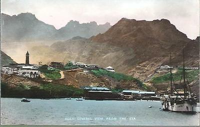 Aden, Yemen - general view - postcard 1950s, Aden stamps