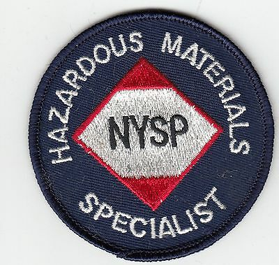 Hazardous Material Specialist (Older) New York State Police Patch Ny Nysp