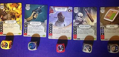Star Wars Destiny - 5 Cards With Dice - No Reserve Auction