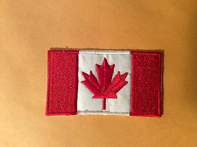 """Canadian Flag (3.5"""" X 2"""") Embroidered FREE DELIVERY WORLDWIDE FROM CANADA"""