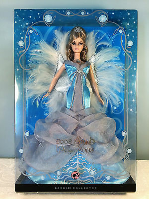 2008 Angel Barbie Doll - Pink Label - Icy Blue and White Gown - NRFB