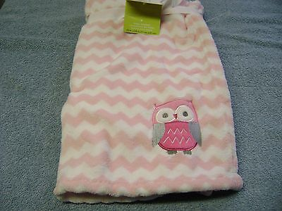 Baby Blanket Owl Girls  Color Pink And White  New Nice Warm & Soft
