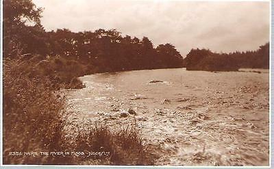 Nairn, Highland - River in Flood - Judges RP postcard c.1930s