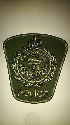 Cornwall Police, Ontario, Canada - Subdued green patch #10