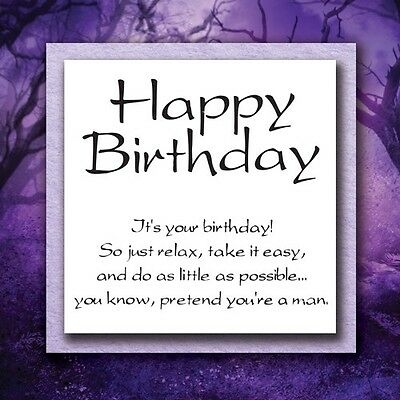 2 NEW Unmounted Rubber Stamps; Birthday Relax Funny Saying! 74070-1