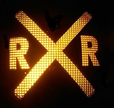 """Yellow Amber Railroad Crossing Signal light 12"""" RR Hiway Traffic Caution LED"""