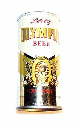 Olympia Test Pull Tab Top Beer Can 7oz Lil Oly A1+ Cone Flat Soda Sign Clock Ofr