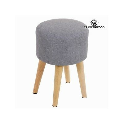 Tabouret rond sixty gris - Collection Love Sixty by Craften Wood - Neuf