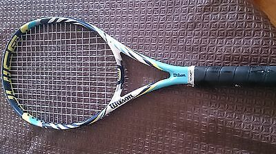 WILSON JUICE 100 Tennis Racquet ** Used ** With Racquet Cover **