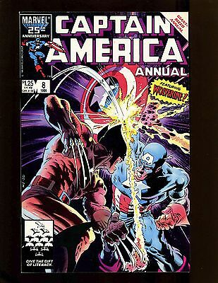 Captain America Annual #8 VF Zeck Beatty Classic Wolverine Cover Story