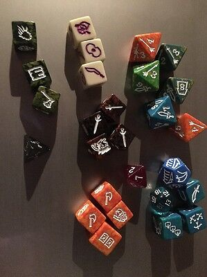 Lot Of 28 Assorted D&D Dice Dungeons Dragons Vintage?