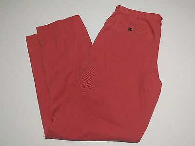 Men's Brooks Brothers Red/Pink Pants 100% Cotton 33-32
