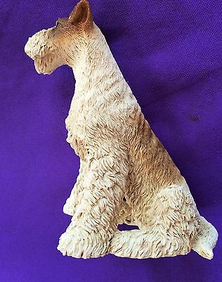 """Fox Terrier Statue by Castagna of Italy Collectible 6""""T x4.5""""L x3.5""""W Free SHIPG"""