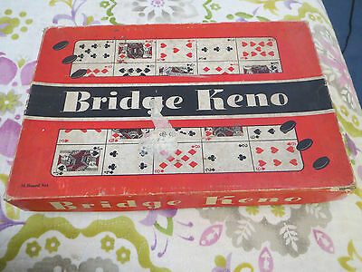 1935 Bridge Keno Board Game Klauber Novelty Company Made In The Usa