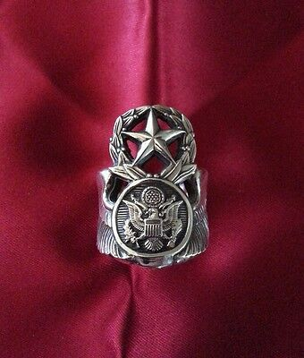 Sterling Silver Chief Enlisted Aircrew Wings Ring Sz 11.5