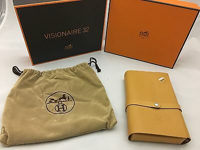 Auth Hermes Photo Art Book Letter Set Visionaire No. 32 Brown Leather 66S705